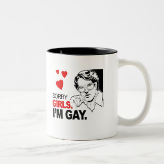 Los chicas tristes soy gay taza