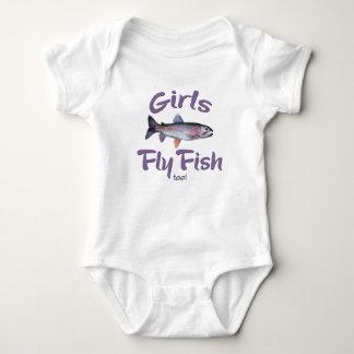 ¡Los chicas vuelan pescados también! Pesca con Body Para Bebé