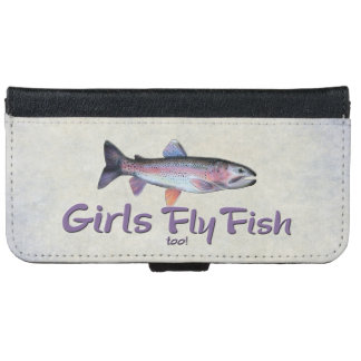 ¡Los chicas vuelan pescados también! Pesca con Funda Cartera Para iPhone 6