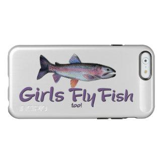 ¡Los chicas vuelan pescados también! Pesca con Funda Para iPhone 6 Plus Incipio Feather Shine