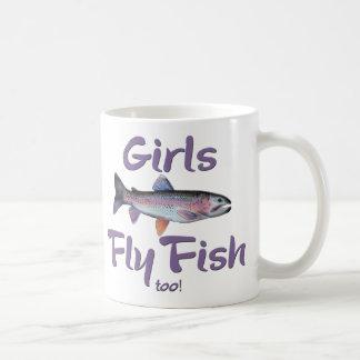 ¡Los chicas vuelan pescados también! Pesca con Taza Básica Blanca