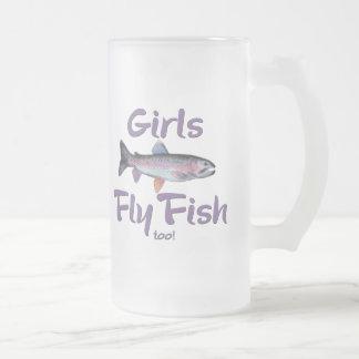 ¡Los chicas vuelan pescados también! Pesca con Taza Cristal Mate