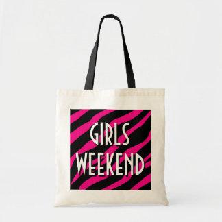 Los chicas weekend la bolsa de asas estampado de