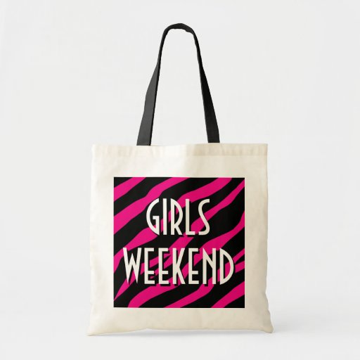 Los chicas weekend la bolsa de asas estampado de z