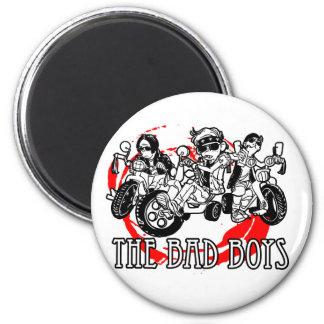Los chicos malos del triciclo imán redondo 5 cm