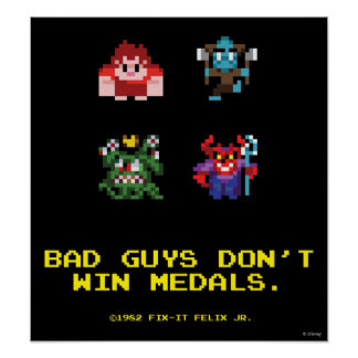 Los chicos malos no ganan las medallas impresiones