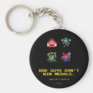 Los chicos malos no ganan las medallas llavero redondo tipo pin