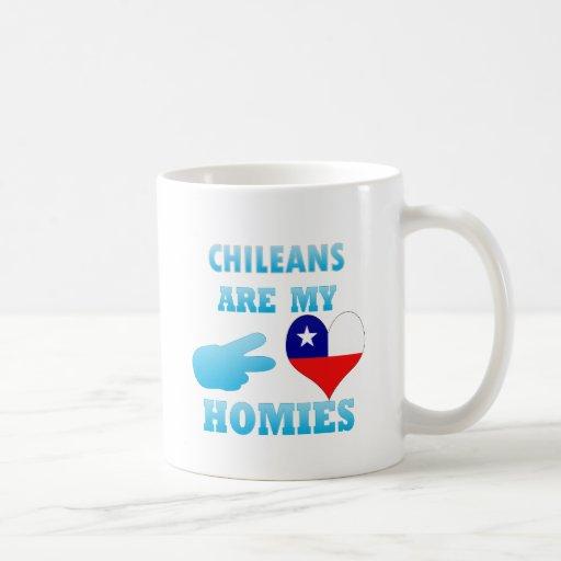 Los chilenos son mi Homies Taza Básica Blanca