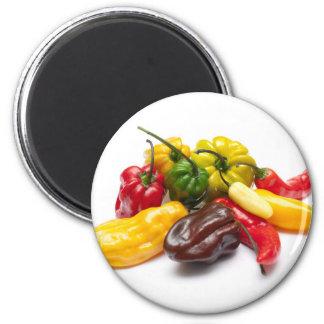 Los chiles más calientes imán redondo 5 cm