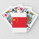Los chinos de los símbolos de la bandera liberan baraja