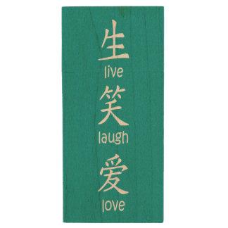 Los chinos viven amor de la risa memoria USB 3.0 de madera