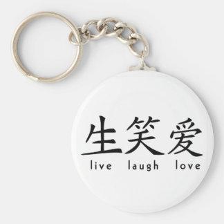 Los chinos viven muestra del amor de la risa llavero redondo tipo pin