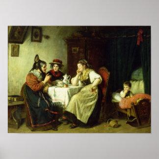 Los chismes, 1887 póster