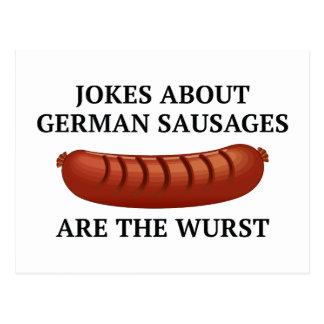 Los chistes sobre las salchichas alemanas son el postales