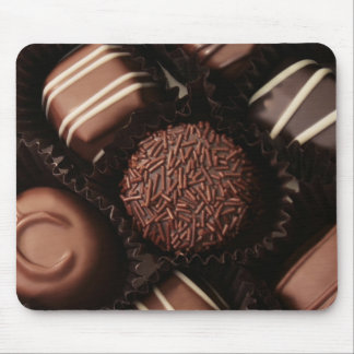 los chocolates de lujo se cierran para arriba alfombrillas de ratón