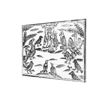 Los Choristers de Woody o la armonía de los pájaro Impresión En Lona Estirada