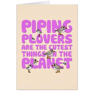 Los chorlitos aflautados son las cosas más lindas tarjeta pequeña