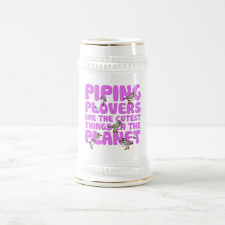 Los chorlitos aflautados son las cosas más lindas jarra de cerveza