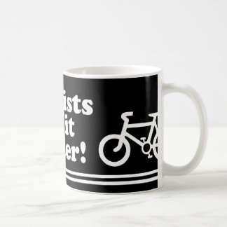 los ciclistas mejora taza básica blanca
