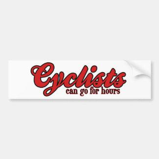 Los ciclistas pueden ir por horas pegatina para auto