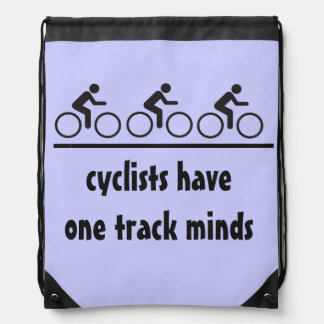 los ciclistas tienen mentes de una pista mochilas