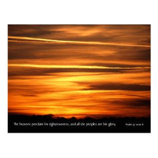 Los cielos declaran del salmo 97 v 6 del | v2 %pip tarjetas postales