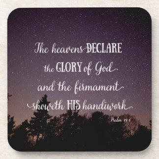 Los cielos declaran la gloria de dios posavaso