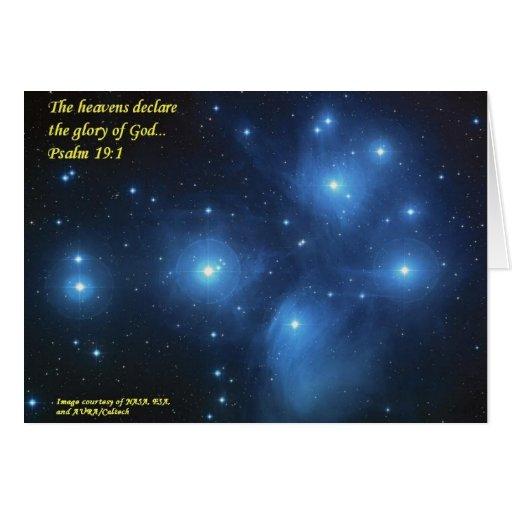 Los cielos declaran la gloria de dios felicitacion