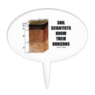 Los científicos del suelo saben sus horizontes figuras para tartas