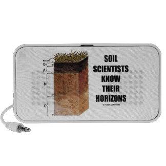 Los científicos del suelo saben sus horizontes mp3 altavoces