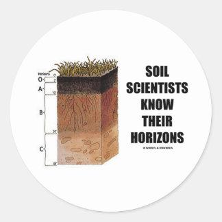 Los científicos del suelo saben sus horizontes pegatina