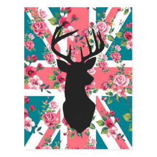 Los ciervos BRITÁNICOS de la bandera de Union Jack Postal