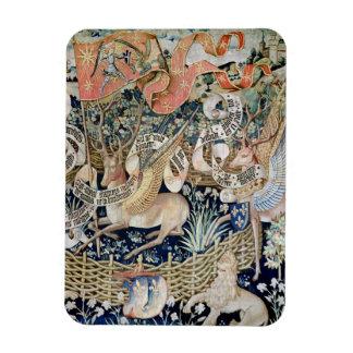 Los ciervos cons alas (tapicería) imanes de vinilo