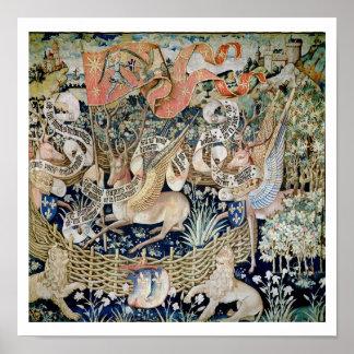 Los ciervos cons alas (tapicería) póster