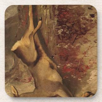 Los ciervos de Gustave Courbet Posavasos De Bebida