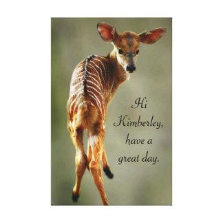 Los ciervos del bebé personalizan lona estirada galerias