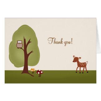 Los ciervos del bosque del ARBOLADO doblados le ag Felicitación