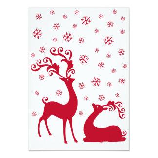 """Los ciervos del navidad diseñan para las tarjetas invitación 3.5"""" x 5"""""""