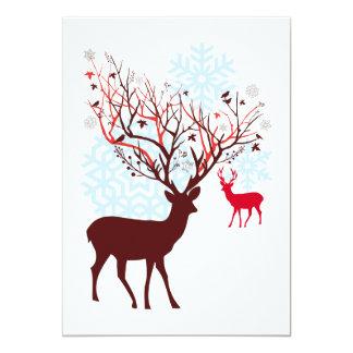"""Los ciervos del navidad diseñan para las tarjetas invitación 5"""" x 7"""""""