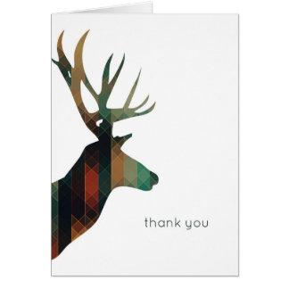 Los ciervos geométricos le agradecen tarjeta de felicitación
