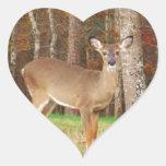 Los ciervos ideales de un cazador pegatinas corazon