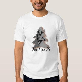 Los ciervos me temen caza divertida camisas