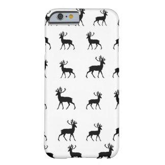 Los ciervos modelan en blanco y negro funda de iPhone 6 barely there