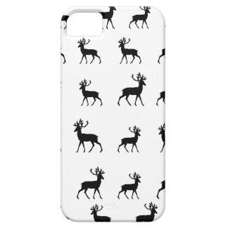 Los ciervos modelan en blanco y negro iPhone 5 carcasas