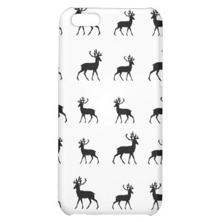 Los ciervos modelan en blanco y negro