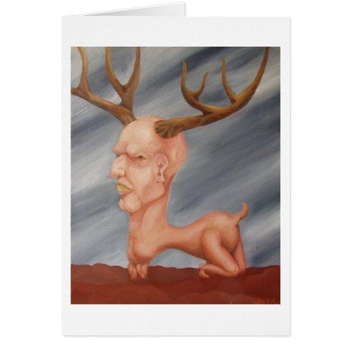 Los ciervos sirven… tarjeta