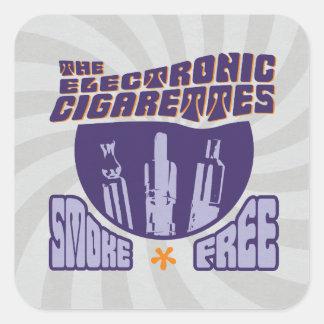 Los cigarrillos electrónicos - sin humos pegatina cuadrada