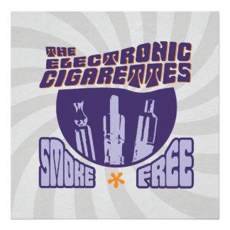 Los cigarrillos electrónicos - sin humos impresiones fotográficas
