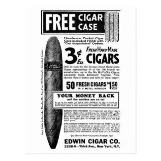 Los cigarros retros 3¢ del anuncio del cigarro del tarjetas postales