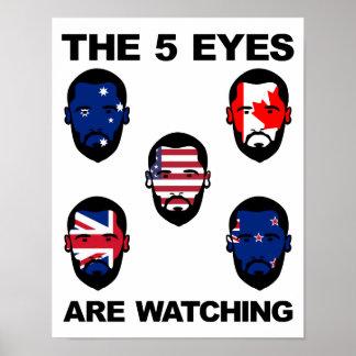 """Los """"cinco ojos """" póster"""